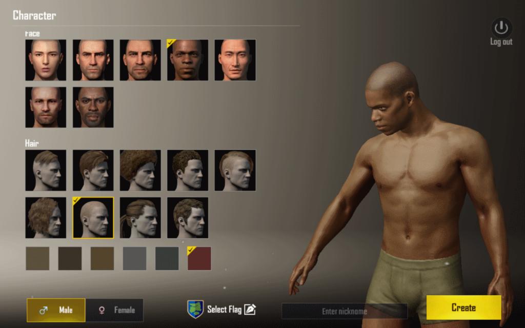 Создание персонажа PUBG Mobile