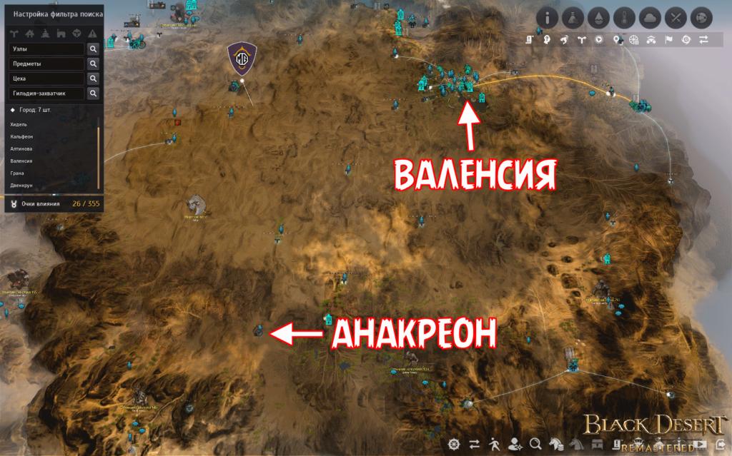 История королевства песков Анакреон