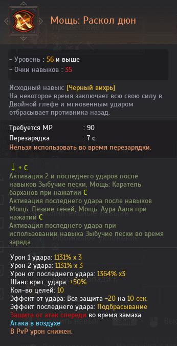 Мощь Раскол дюн
