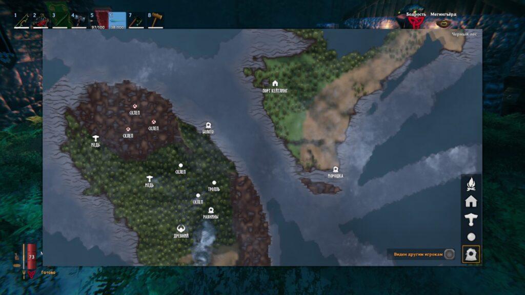 Карта порталов Вальхейма